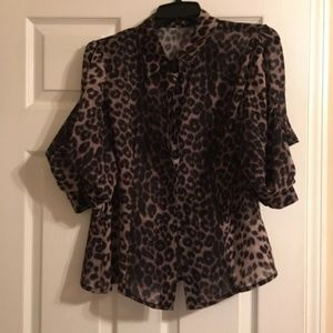 black and tan size L gracia blouse